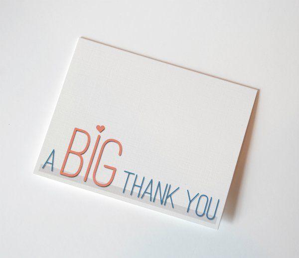 Fun Font Thank You Card Printable Thank You Notes Thank You