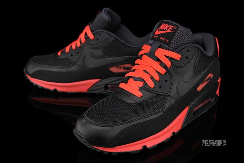 nike air max 90 black red