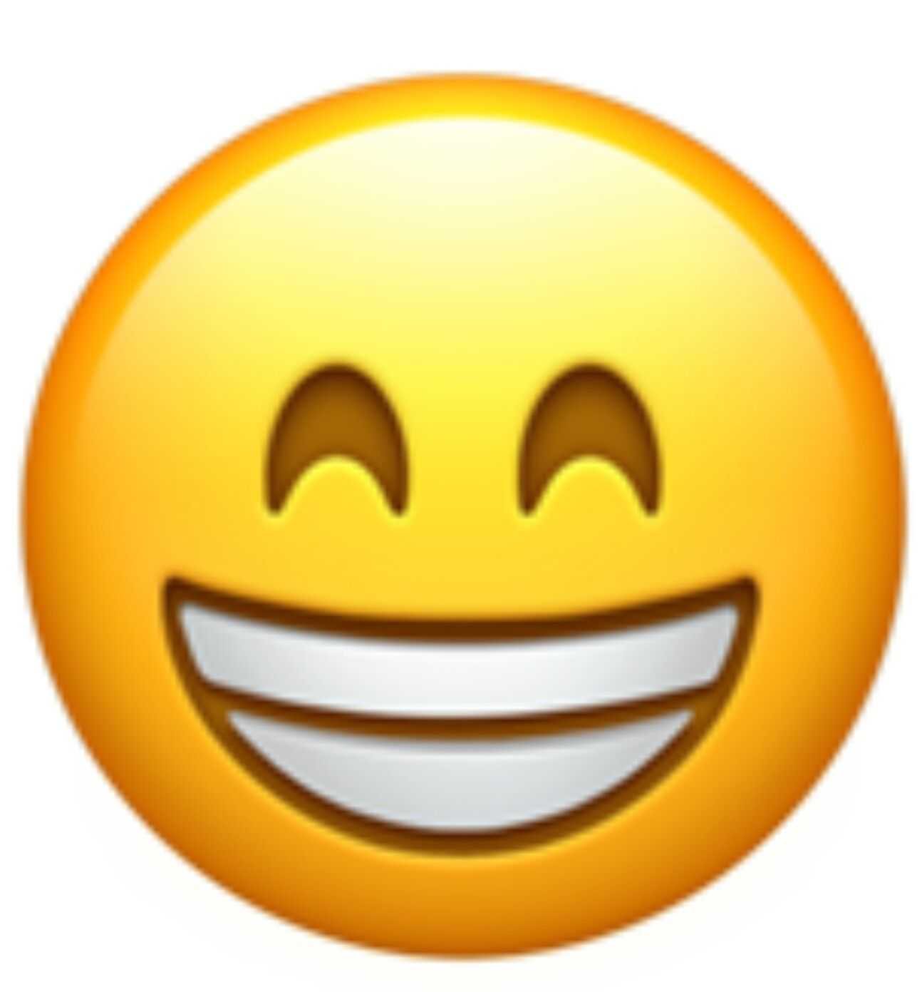 a version of the grinning face showing smiling eyes this