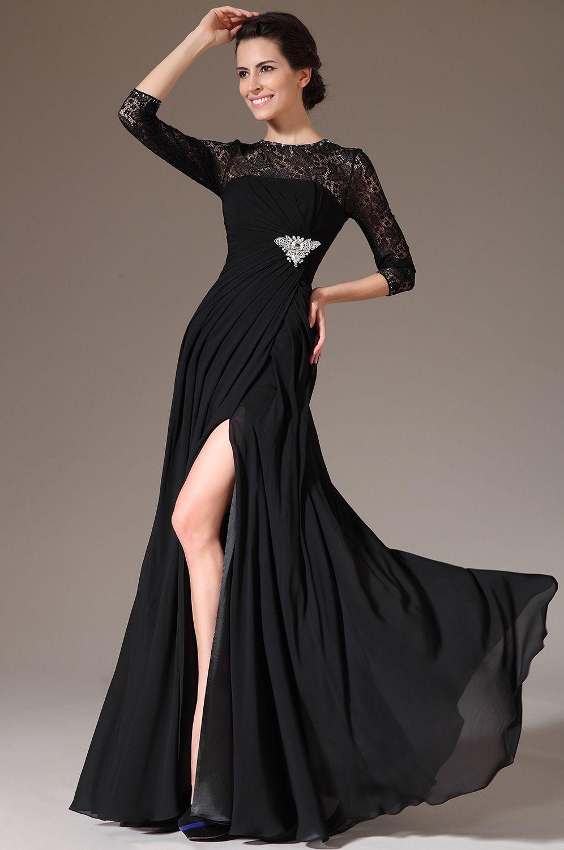 Robe de soiree dentelle noir