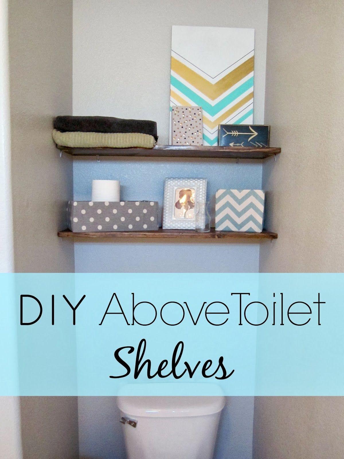 DIY Above Toilet Shelves   Toilet storage, Toilet shelves and Toilet
