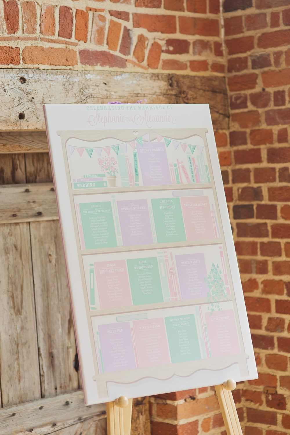 Pastel Table Seating Chart   Rustic wedding   Pastel Colour Scheme   Images by Cotton Candy Photography   http://www.rockmywedding.co.uk/steph-alex/