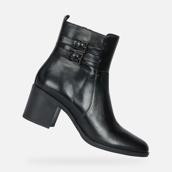 Femme Bottines & Boots Geox GLYNNA Boots à talons brown