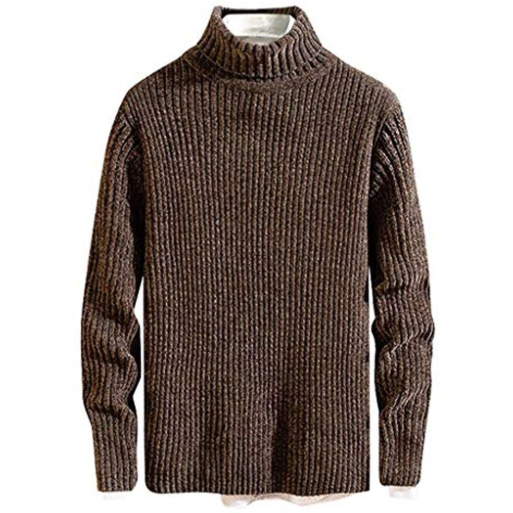 Autumn Men/'s Pullover High Neck Sweater Tops Turtleneck Knitwear Blouse