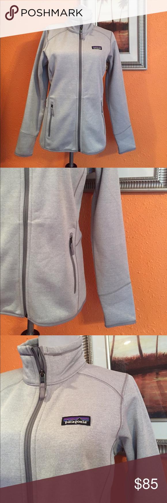 Women tech fleece jacket Nice light grey with zipper