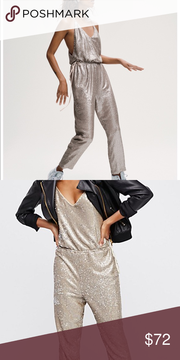Sequin Jumpsuit Free People New With Tags So Cute Free People Pants