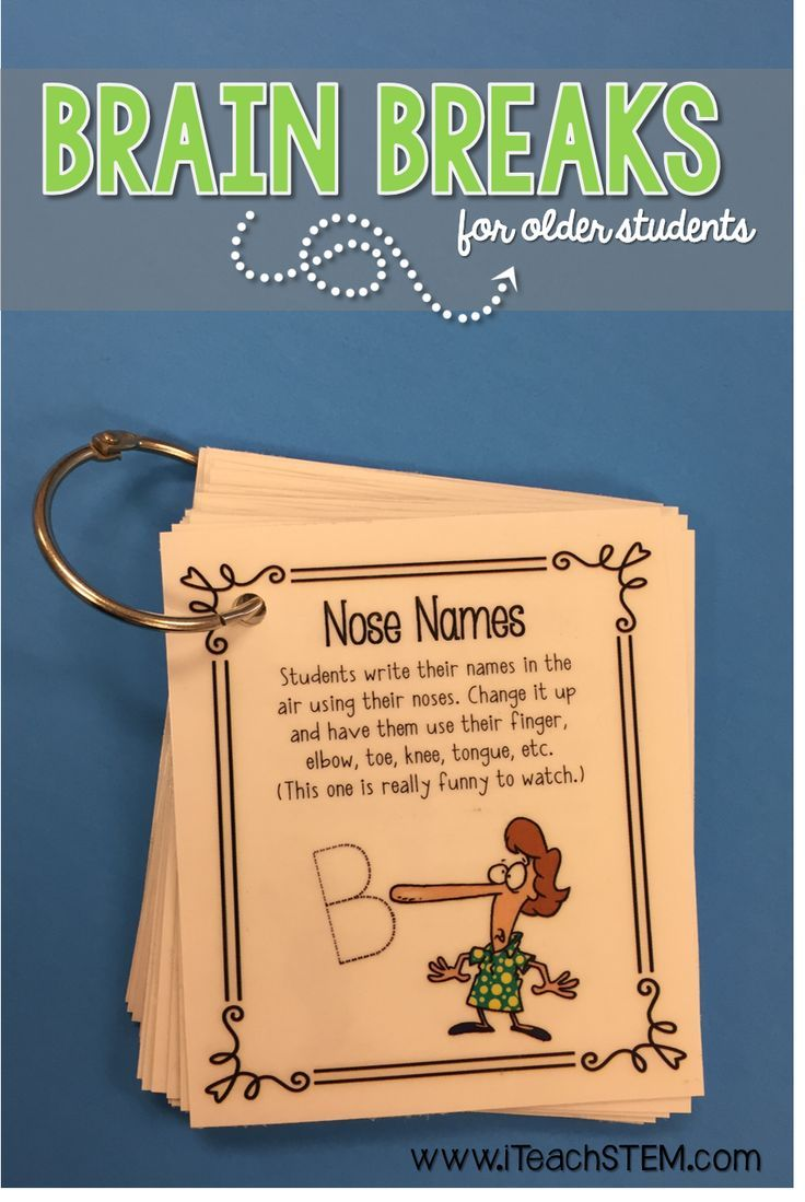 """Get students up and moving. Refocus them. Encourage them to think in a different way. Reward them for good behavior. Even leave the cards for a substitute as """"filler activities"""". Print and go resource for upper elementary and middle school teachers to use with their students."""