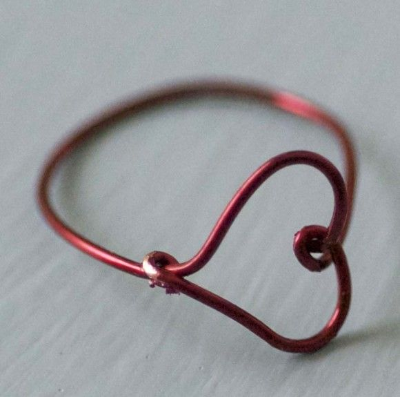 Dollar store crafts! Wire heart ring | Shes crafty | Pinterest ...