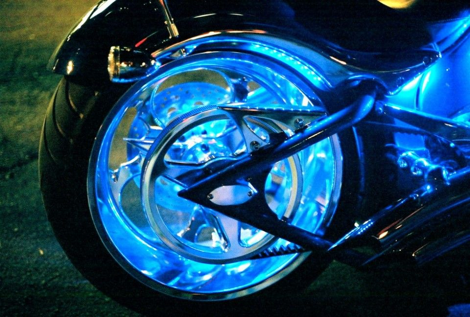 Motorcycle Wheel Lighting System Puck System Motorcycle