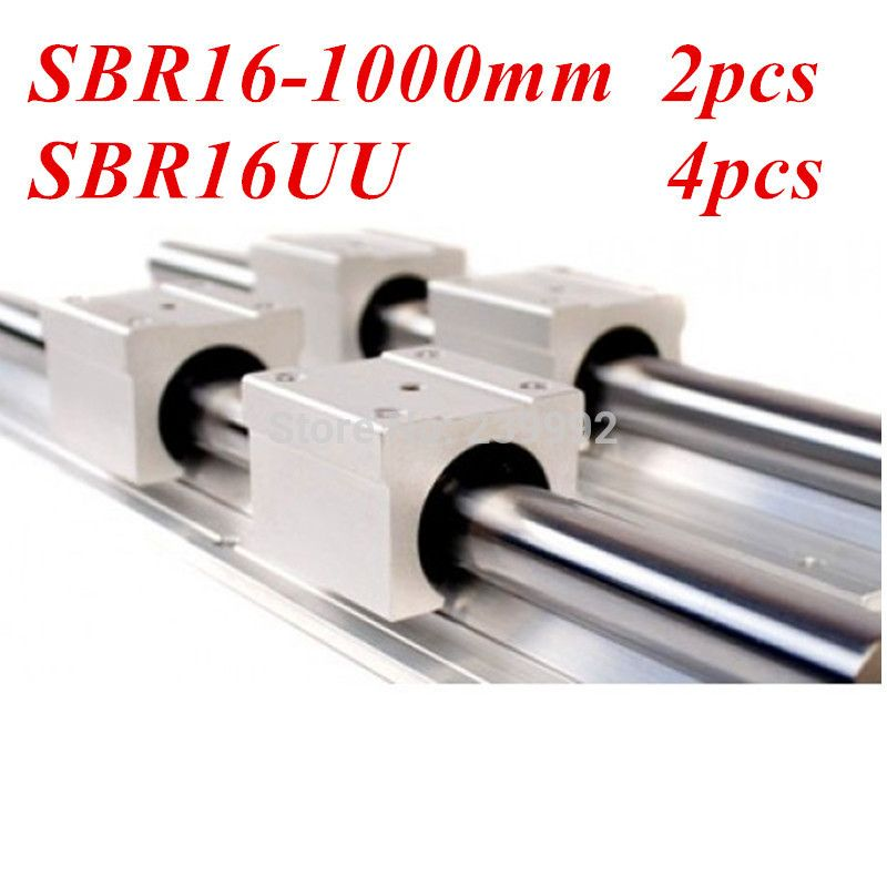 12mm SBR12-400mm LINEAR SLIDE GUIDE SHAFT 2 RAIL+4 SBR12UU BEARING BLOCK CNC set