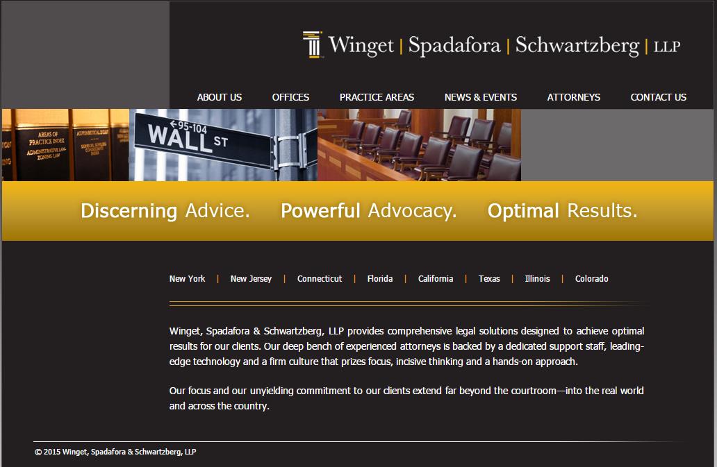 Winget Spadafora Schwartzberg Llp Provides Comprehensive Legal