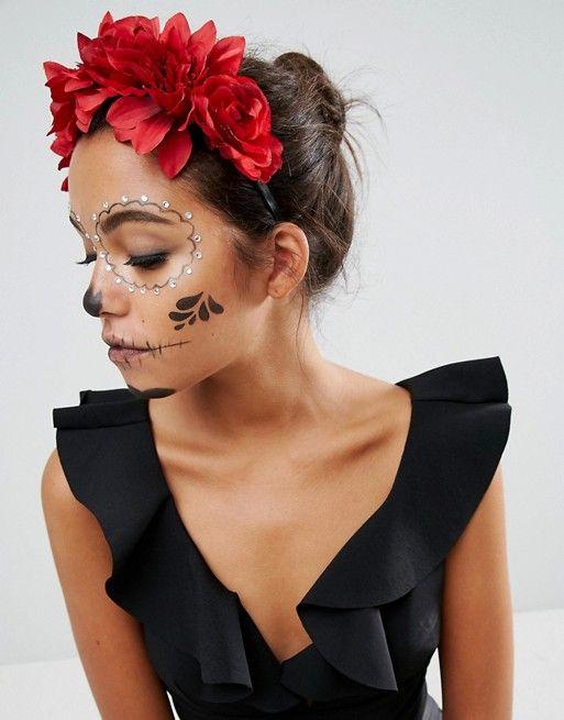 Photo of ASOS Halloween Midnight Floral Garland Headband   ASOS