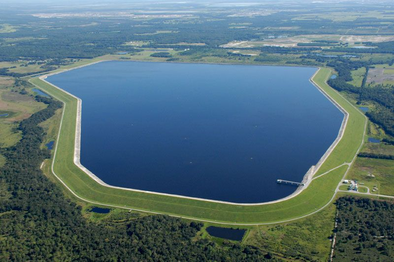 This Reservoir Hold 15 5 Billion Gallons Of Water From The Alafia And Hillsborough Rivers And The Tampa Bypc