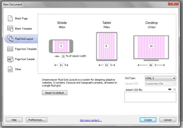 Design A Mobile Ready Website Web Design Grid Layouts Dreamweaver