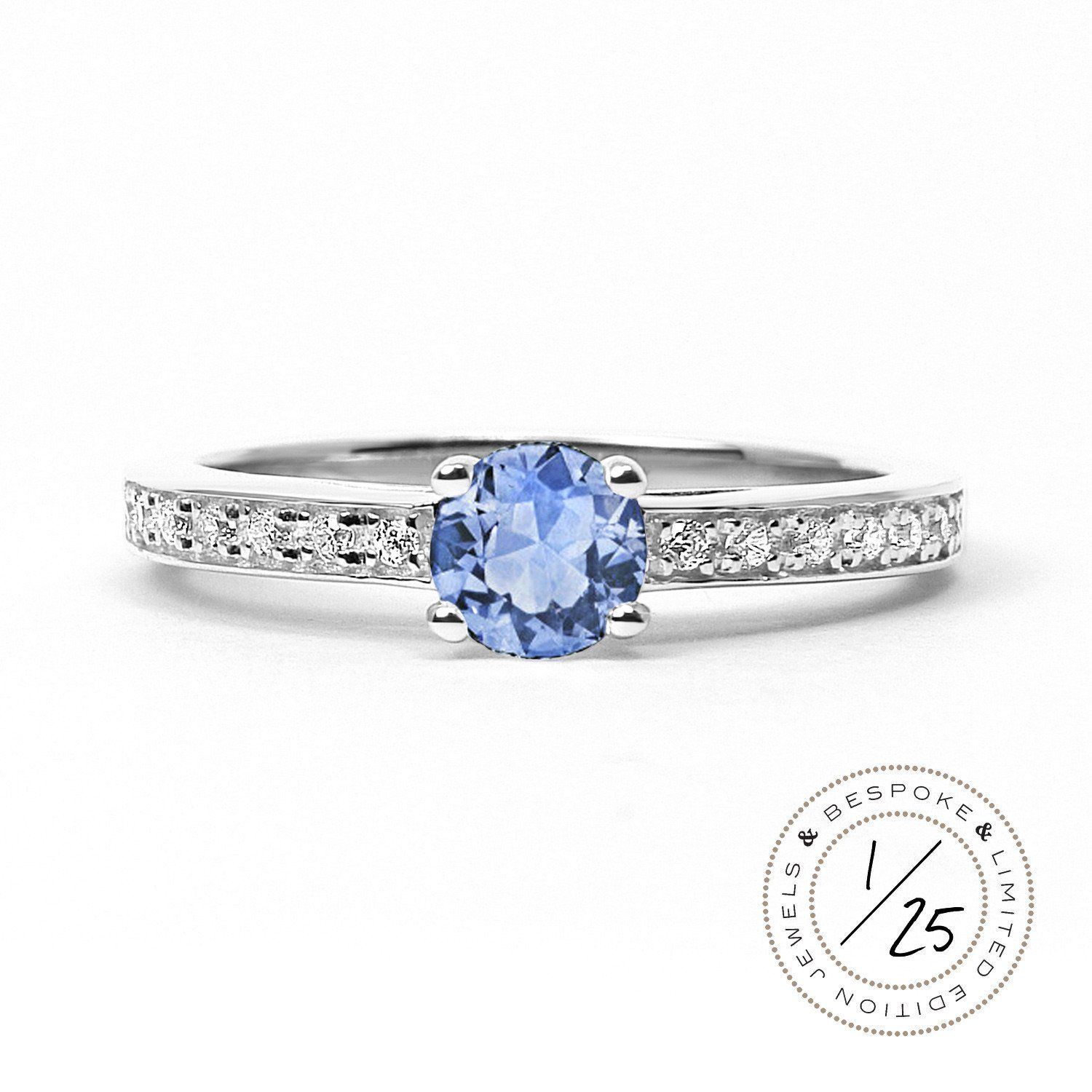 ring diamond eternity engagement campbell oval blue cut white ireland gold specialists products sapphire light