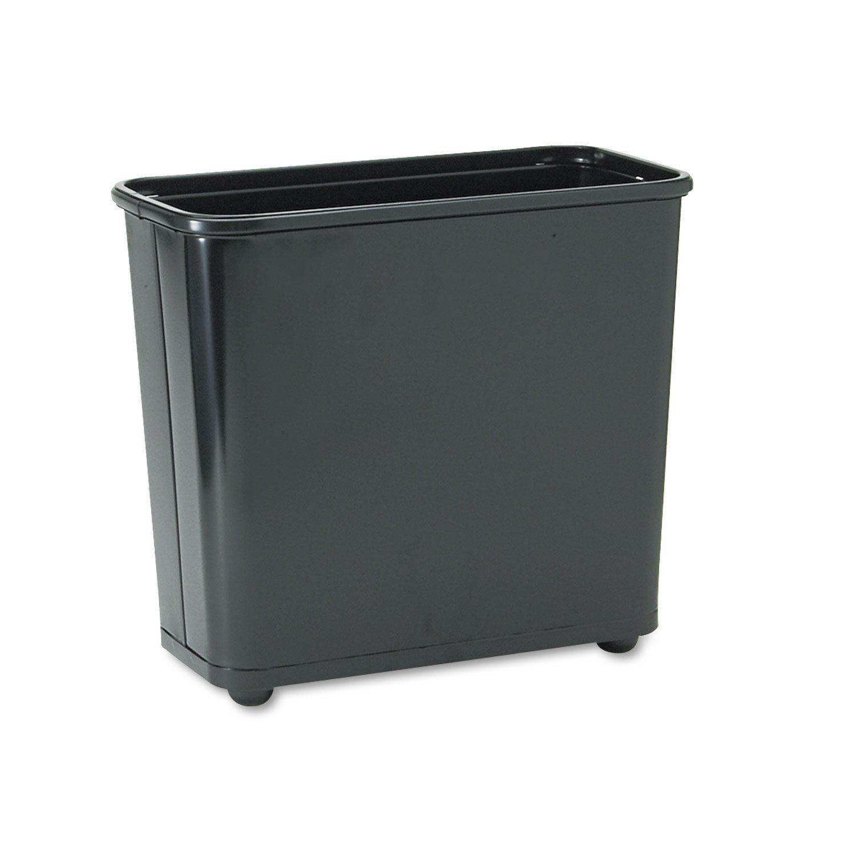 Firesafe wastebasket rectangular steel gal black products