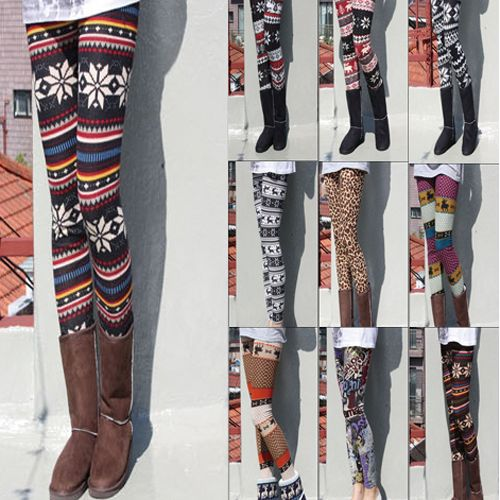 e72d5ef46 Nordic Pattern Wool Blend Thermal Knit Leggings Tights