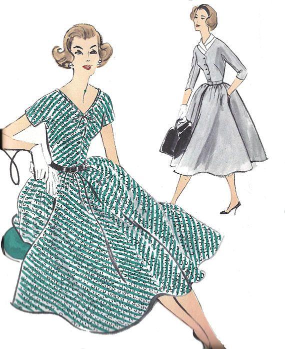 Vogue 9379 / UNCUT FF / Vintage 1950s Sewing Pattern for Vintage Dress