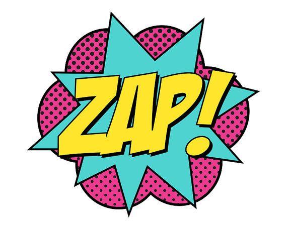 Superhero Signs Boom Pow Zap Bam 8 5 X 11 Instant