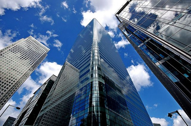 HSBC world headquarters based in Canary Wharf, London