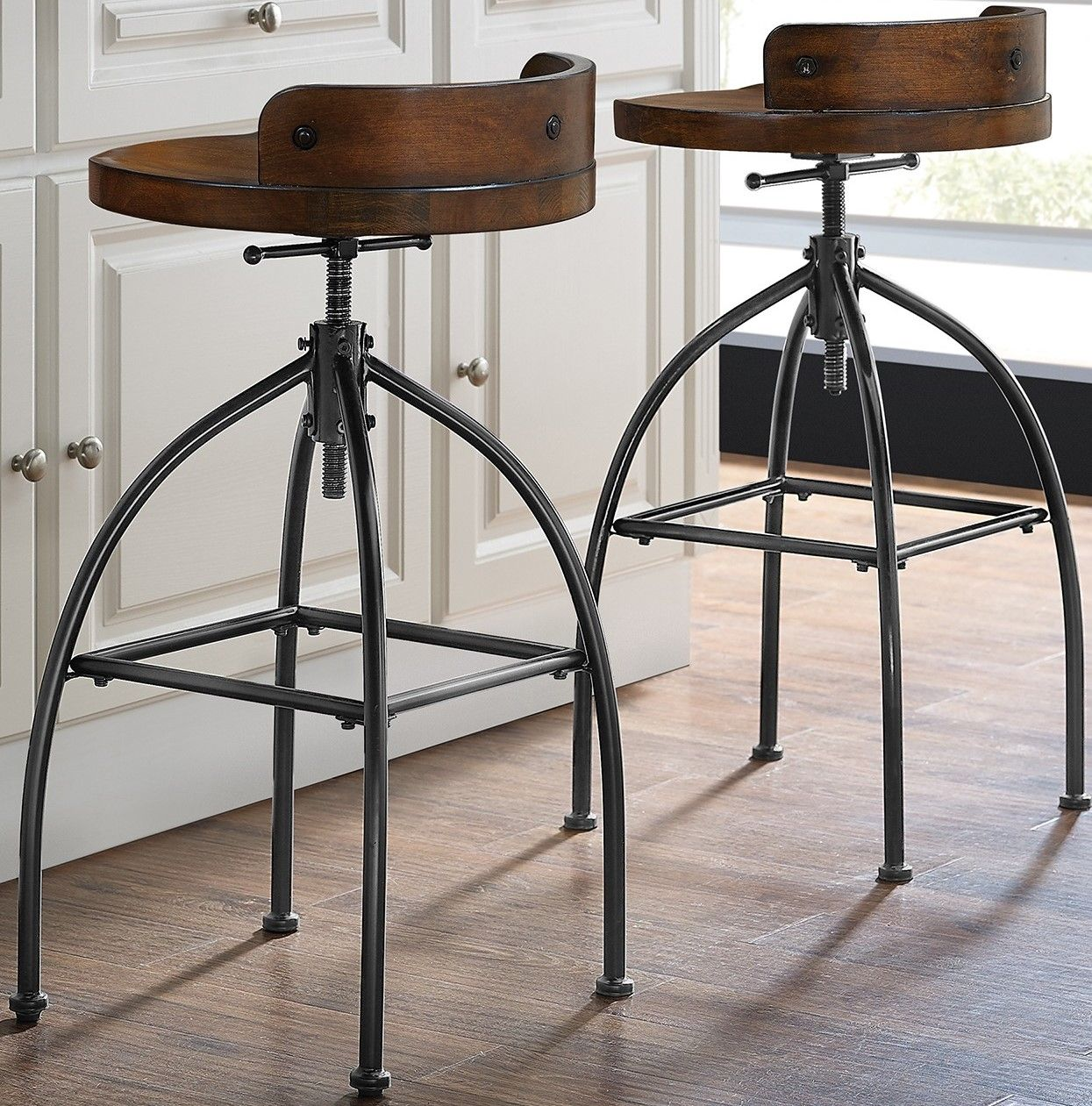 Boho Farmhouse Counter Stools