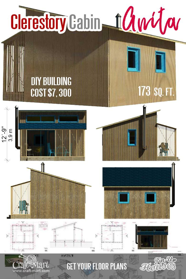 Cute Small Cabin Plans (A-Frame Tiny House Plans, Cottages, Containers) -  Craft-Mart | Small cabin plans, Building a small cabin, Tiny house plans