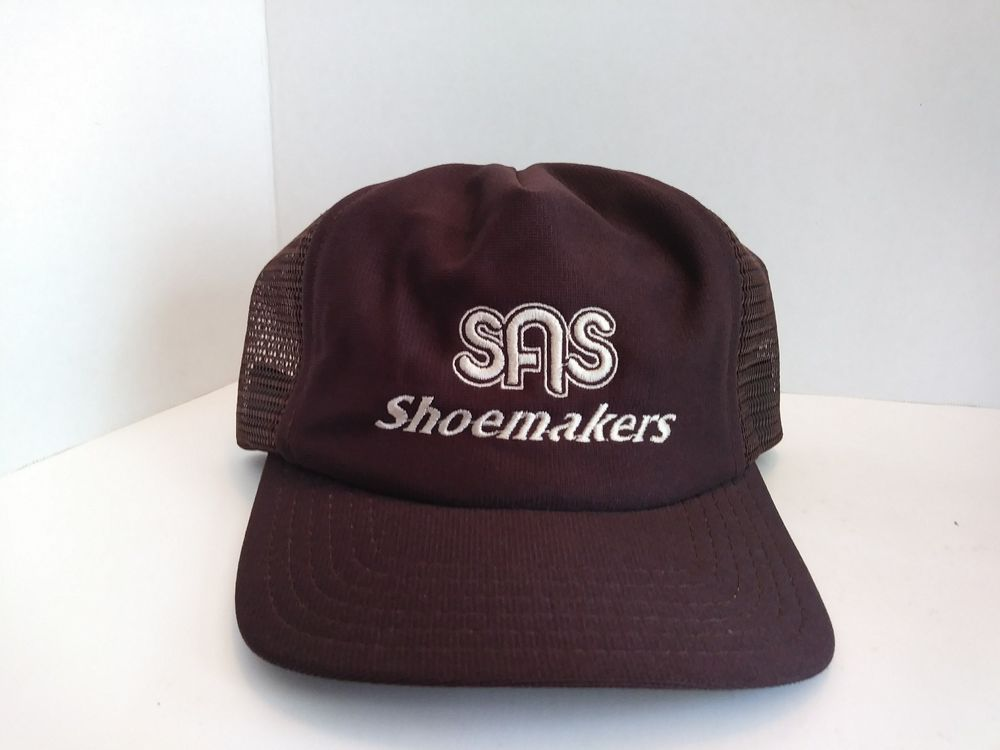 quality design a553e 927bc VTG SAS ShoeMakers Trucker Hat SnapBack Cap San Antonio Shoes Made In USA  Brown
