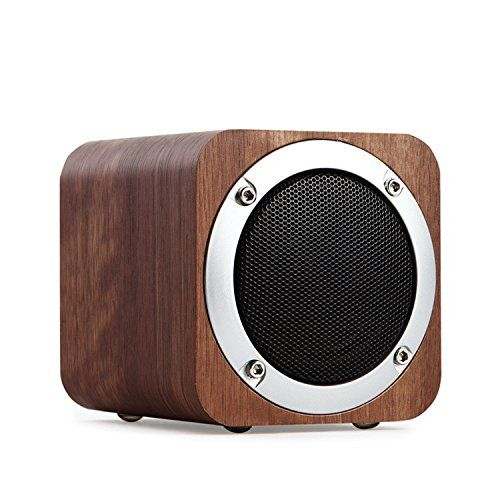 Wireless Computer Speaker with Enhanced Bass Resonator Portable Bluetooth 4.0 Speakers with 10h Play Time Bluetooth Speaker Wooden