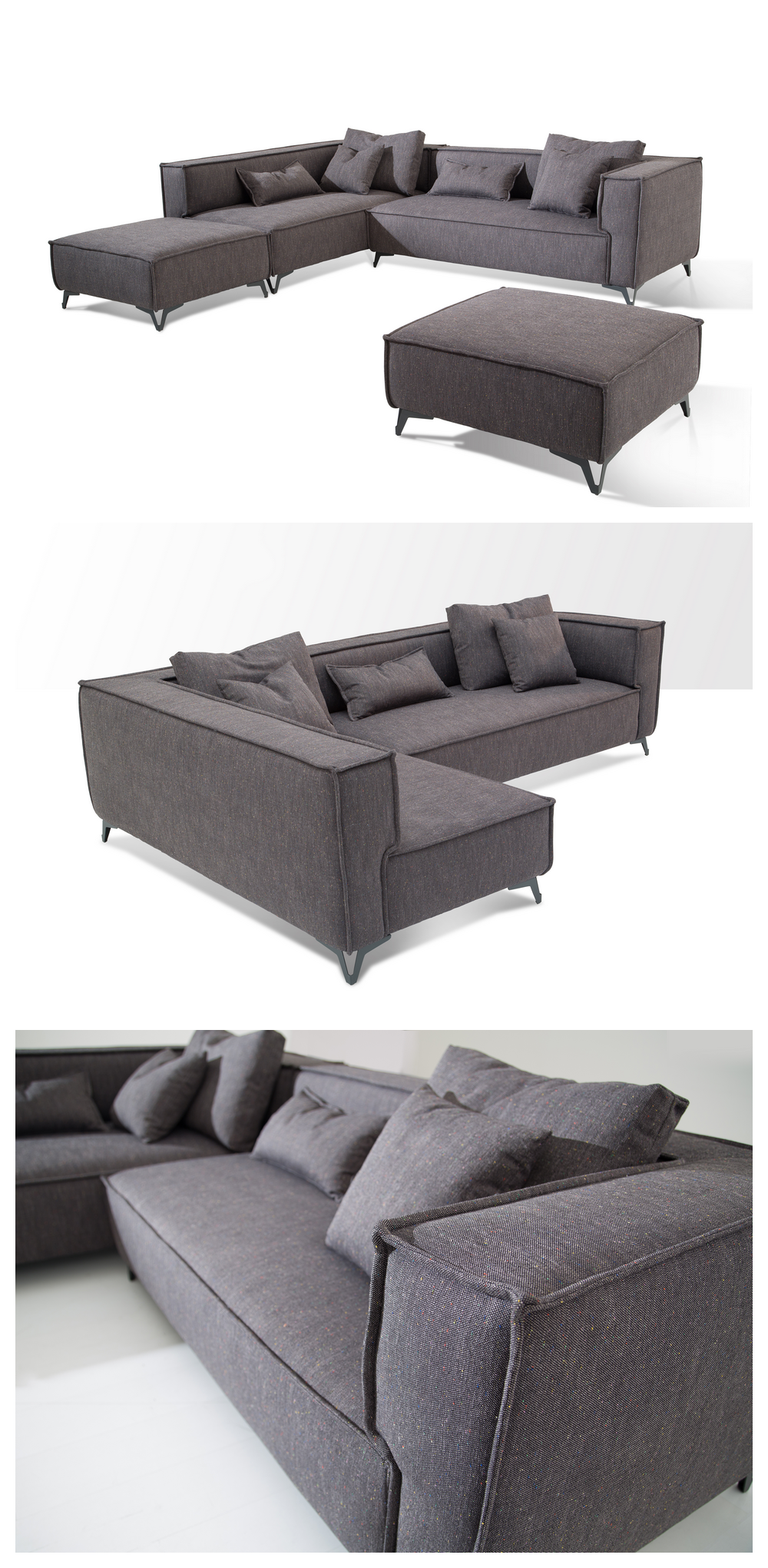 Grey Linen Armrest China Supplier Simple Sectional Sofa Pinterest And Furniture