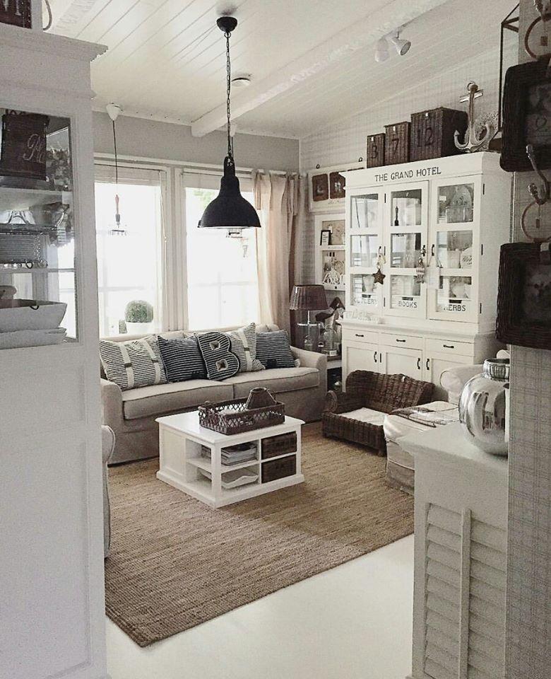 shabby and charme in finlandia a casa di kristiina nordic style pinterest vimini. Black Bedroom Furniture Sets. Home Design Ideas