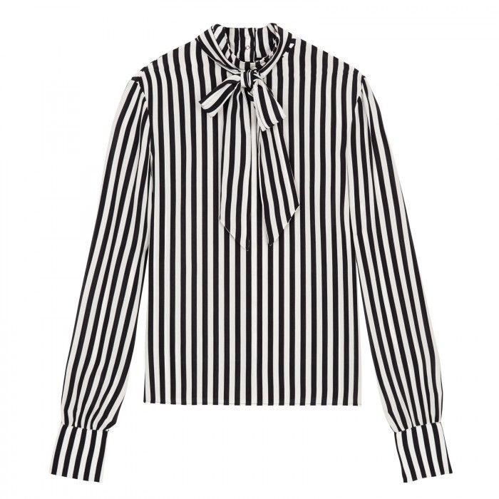 3d335747d57f Inigo Bow Front Blouse - Stripe