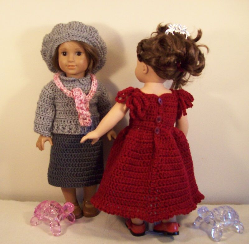 Crocheted dresses, outfits. Free pattern download. | American girl ...