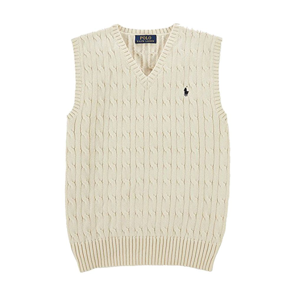 NWT Ralph Lauren Boys Cable Knit Sweater Vest Cream 2T | Ralph ...