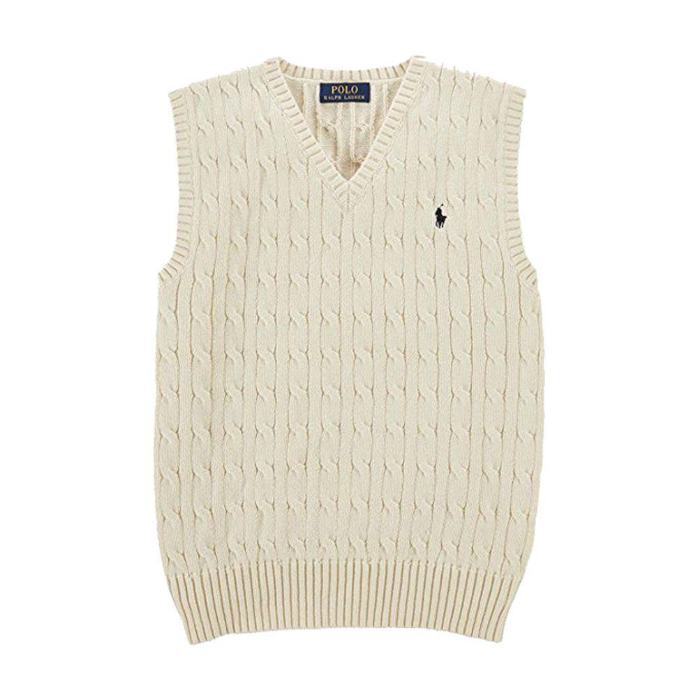 337bcbf9f NWT Ralph Lauren Boys Cable Knit Sweater Vest Cream 2T  RalphLauren ...