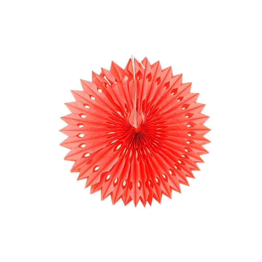 Enfeite de Papel Margarida Vermelho (40cm)