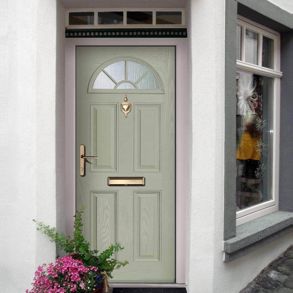 Green Front Doors: External Virtuoso Chilton One Grill Composite Door, Shown