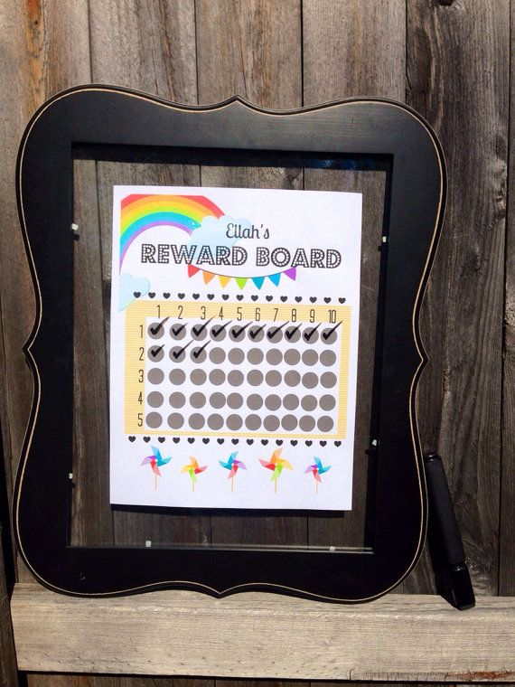 Rainbow BRIGHR Reward Chart on Etsy, $4.00