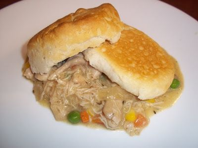{Biscuit Chicken Pot Pie Biscuit} Chicken Pot Pie is a delicious chicken pot pie recipe that's easy to make in your slow cooker. Cover it and let it cook for 8 hours. You'll come home to a delightful meal.