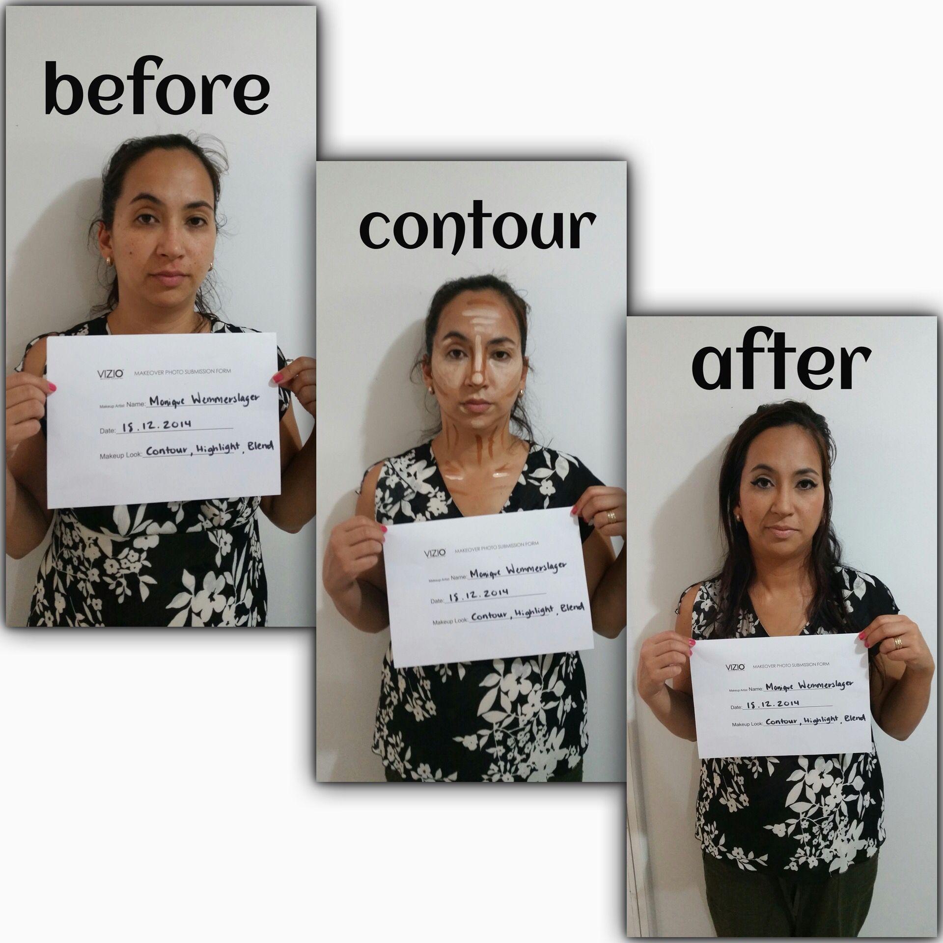 Monique makeup application assignment Vizio, Polaroid
