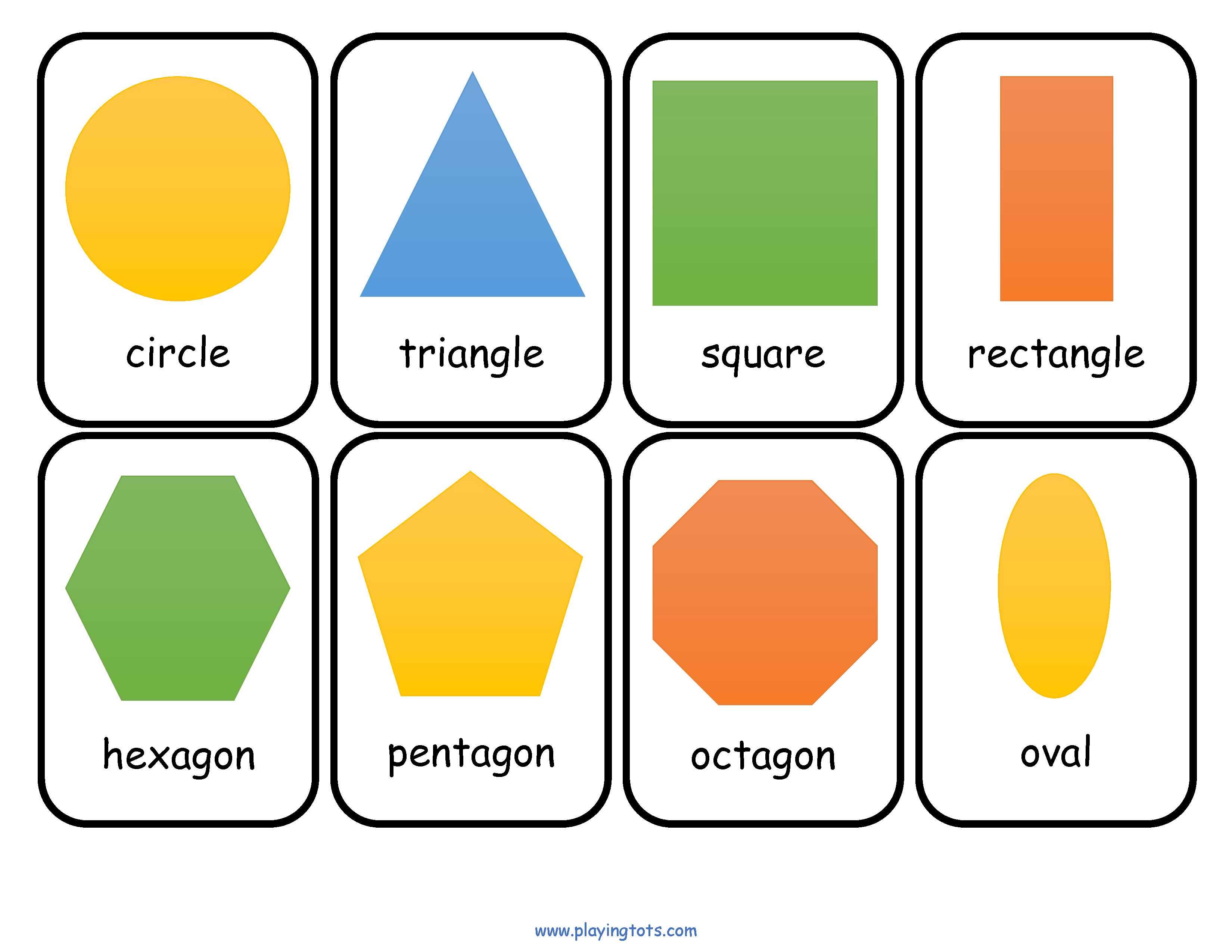 Free Printable Shapes Flash Cards Flashcards For Kids Printable Flash Cards Shapes Preschool [ 2550 x 3300 Pixel ]