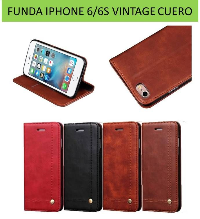 Funda de cuero genuino para iPhoneX Retro Vintage funda de cartera