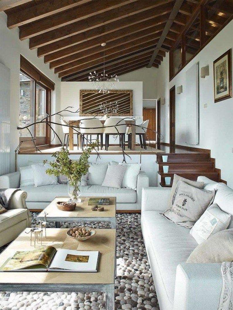 Love the modern rustic vibe rancho blue sofas inside design lounge ideas