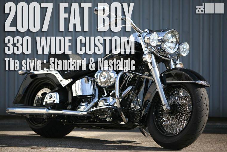 2007 FAT BOY: 330 WIDE TIRE CUSTOM | BAD LAND