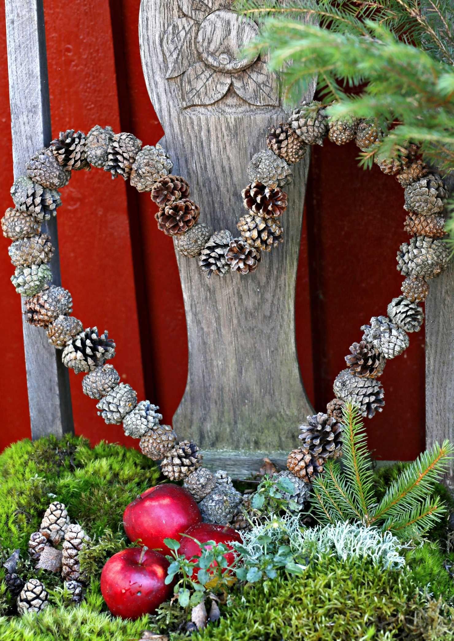 Tee hurmaavat joulukoristeet kävyistä ja havuista – 12