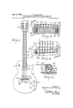 Classic Gibson Guitar 4 Patent Art Drawing Collection