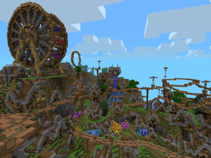 Steampunk [Roller Coaster] | Minecraft PE Maps | McpemapsJT ...