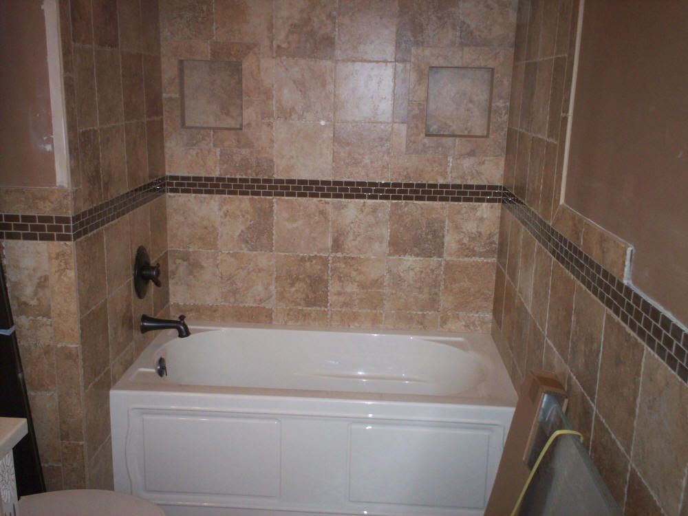 Tile bathtub surrounds google search for Tile shower surround