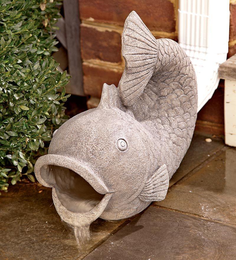 Resin Fish Decorative Gutter Downspout Extension Problem Solvers