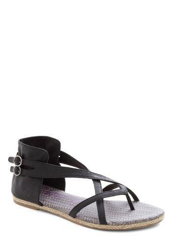 A Full Plait Sandal, #ModCloth