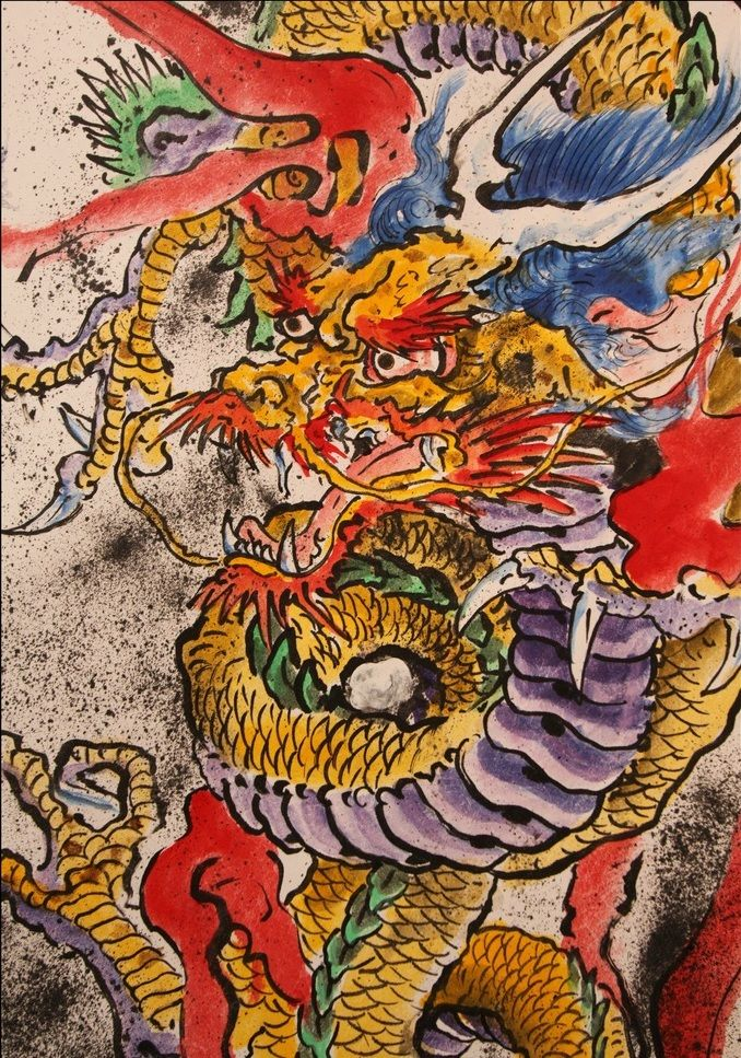 japanese dragon by don ed hardy 8 tribal dragons pinterest japanese dragon dragons and. Black Bedroom Furniture Sets. Home Design Ideas